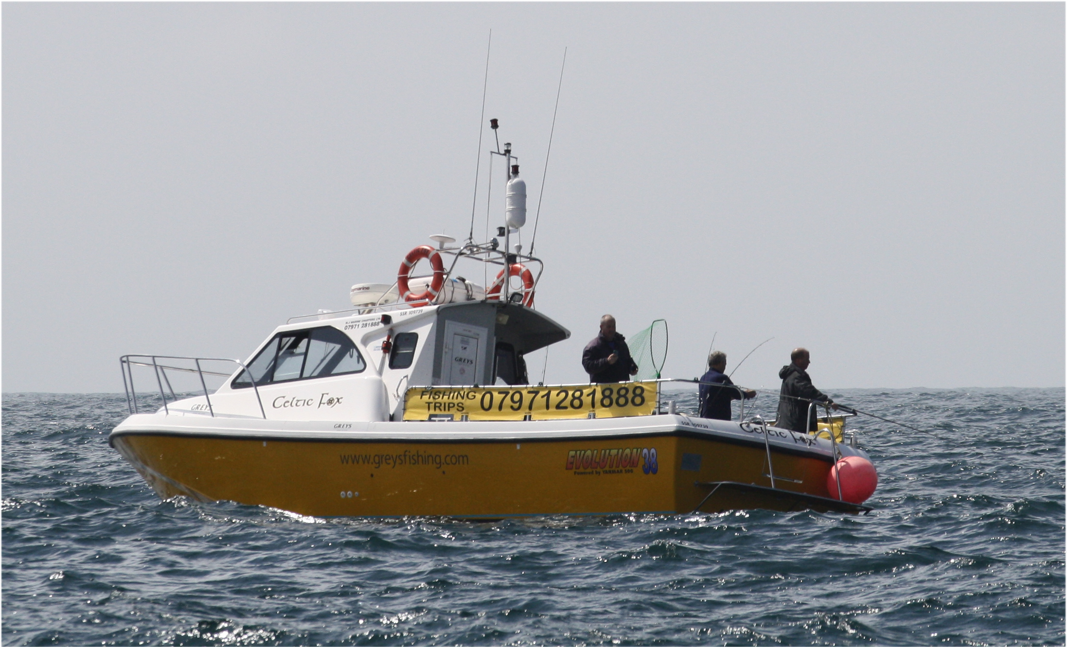 Shark fishing off West Cornwall